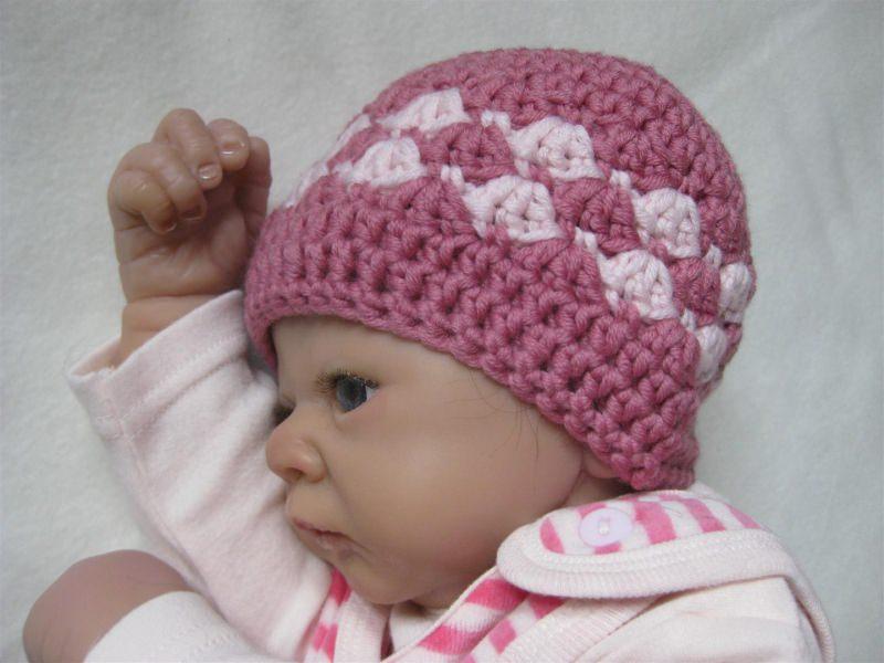 - Babymütze, Neugeborenenmütze, Wintermütze aus reiner weicher Wolle, gehäkelt  - Babymütze, Neugeborenenmütze, Wintermütze aus reiner weicher Wolle, gehäkelt