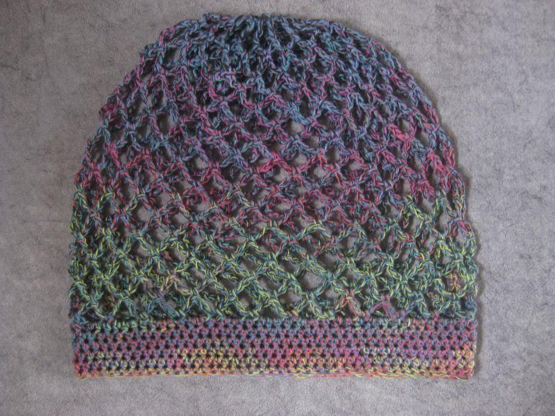 Kleinesbild - Federleichte Mütze, Beanie, Sommer-Mütze mit Farbverlauf