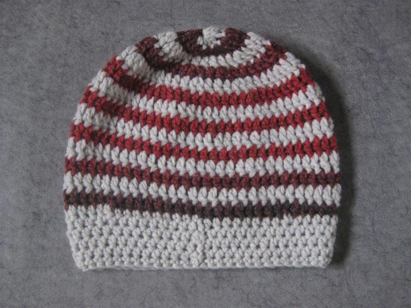 Kleinesbild - Mütze, Beanie im Spiral-Design, Häkelmütze