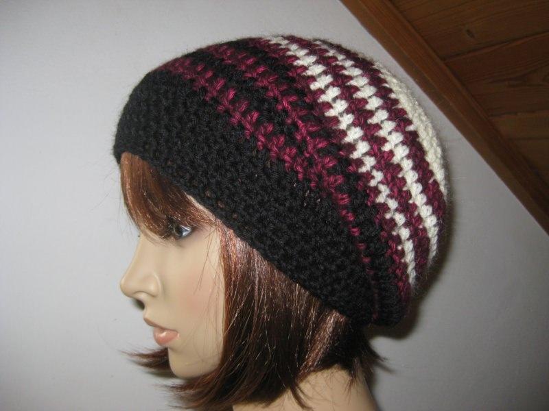 - Mütze aus weicher Wolle mit Mohair, gehäkelt, Beanie, Häkelmütze  - Mütze aus weicher Wolle mit Mohair, gehäkelt, Beanie, Häkelmütze
