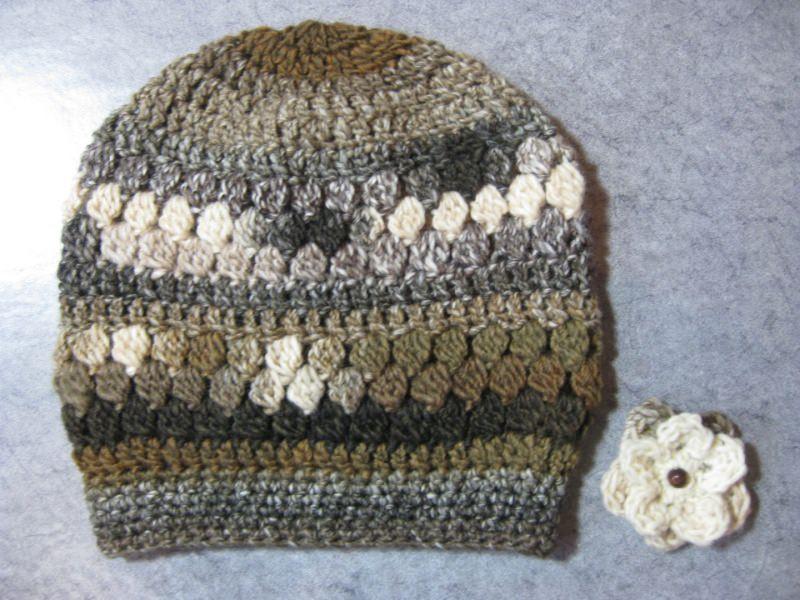 Kleinesbild - Mütze, Beanie, Häkelmütze, in Brauntönen