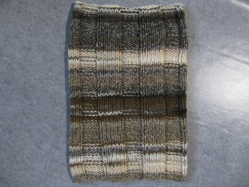 Kleinesbild - Schlauchschal, gestrickt, in Brauntönen, Loop, Schal