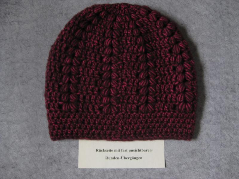 Kleinesbild - Mütze, kuschelweiche Wolle mit hübschem Muster, Beanie, Häkelmütze
