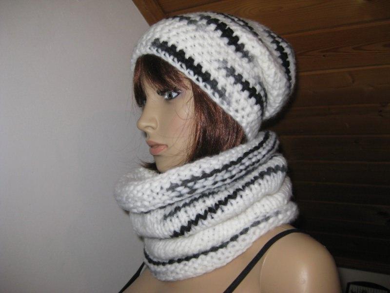 Kleinesbild - Mütze, Beanie im Boshi Style aus kuschelweicher Wolle, Häkelmütze