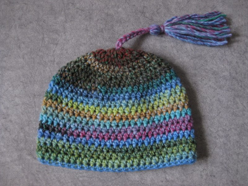 Kleinesbild - Kurze Mütze im Boshi Style, Häkelmütze mit Farbverlauf