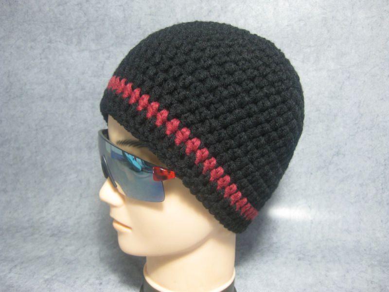 Kleinesbild - Kurze Mütze, Beanie im Boshi Style, Häkelmütze, Männer-Mütze