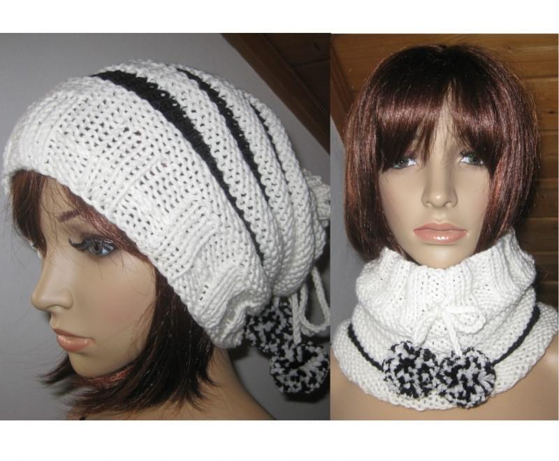 - Mütze und/oder Loop-Schal, 2 in 1, verschiedene Tragemöglichkeiten, gestrickt - Mütze und/oder Loop-Schal, 2 in 1, verschiedene Tragemöglichkeiten, gestrickt