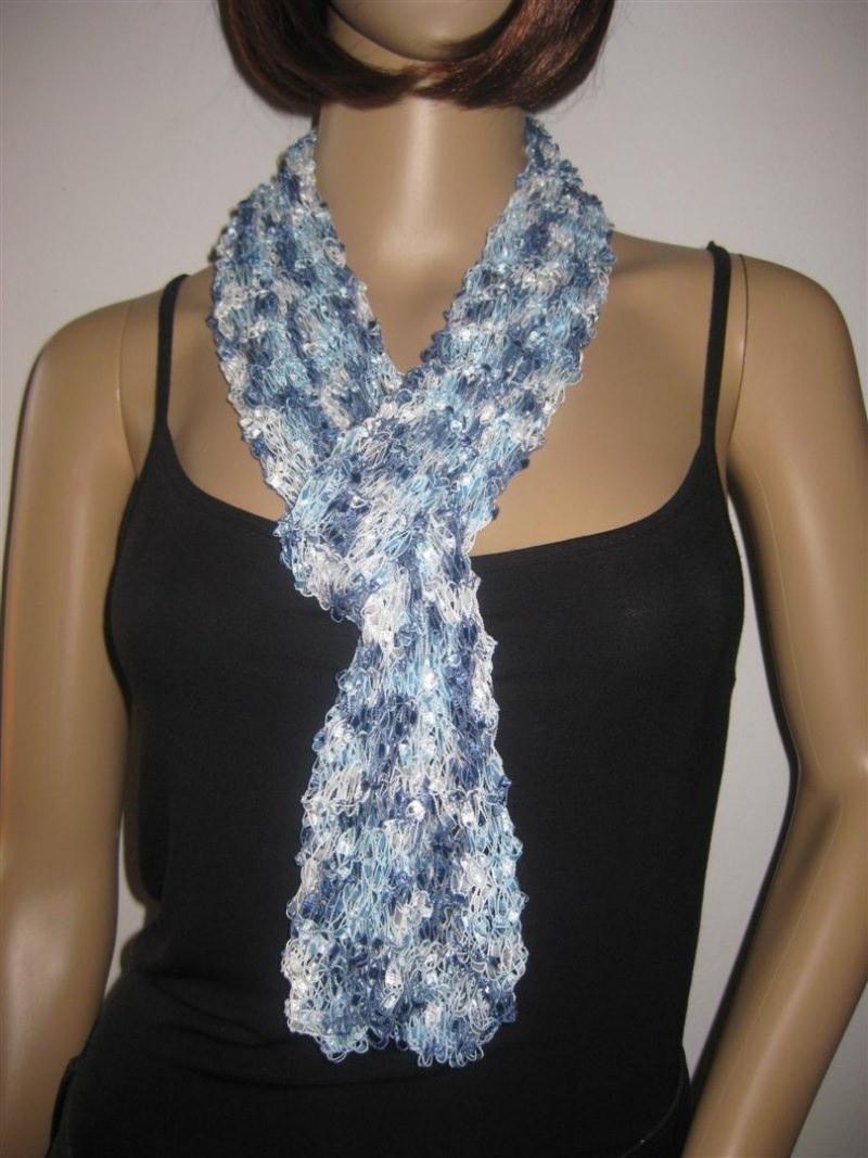 Kleinesbild - Schmuckschal, Schal aus tollem Effektgarn, vielseitig zu stylen