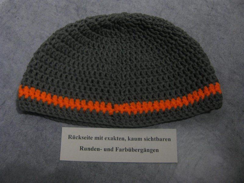 Kleinesbild - Männermütze extrakurz (ohrfrei) mit UV-aktivem Leuchtstreifen, Mütze aus Baumwolle mit Elasthan