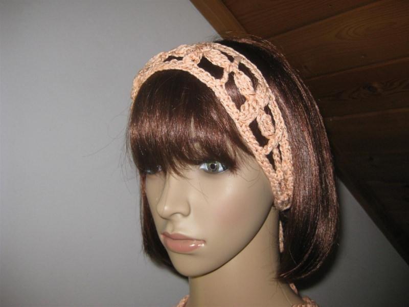 - Haarband mit dezentem Glanz, Stirnband, Haarschmuck, gehäkelt - Haarband mit dezentem Glanz, Stirnband, Haarschmuck, gehäkelt