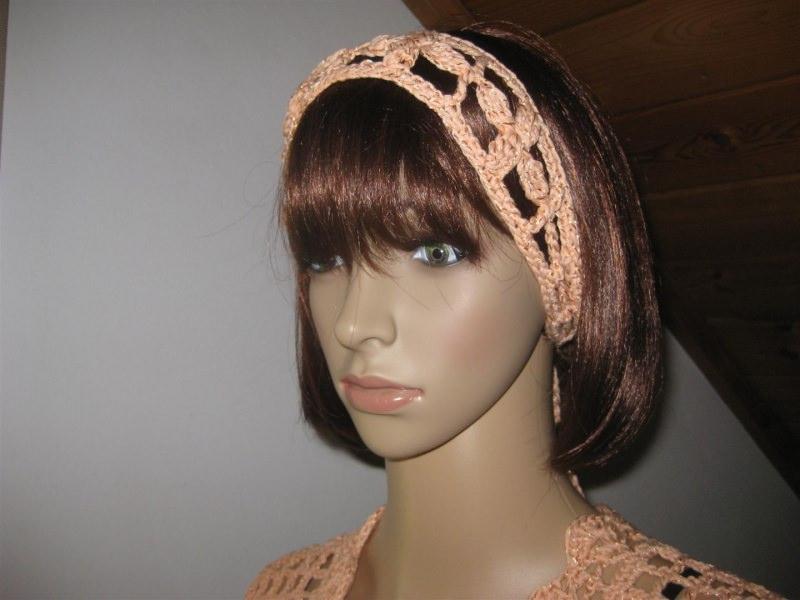 Kleinesbild - Haarband mit dezentem Glanz, Stirnband, Haarschmuck, gehäkelt