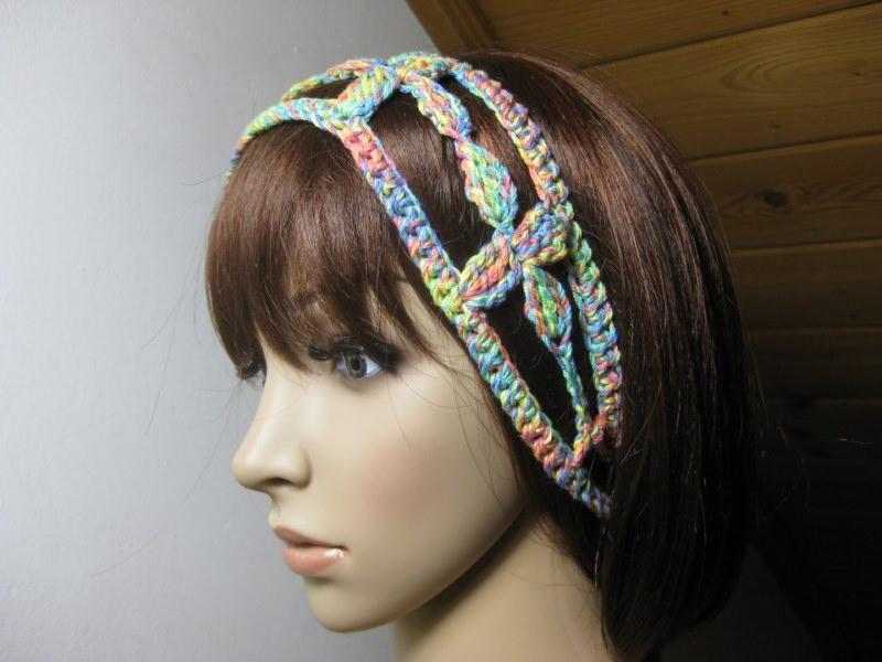 Kleinesbild - Haarband, Stirnband, Haarschmuck, gehäkelt