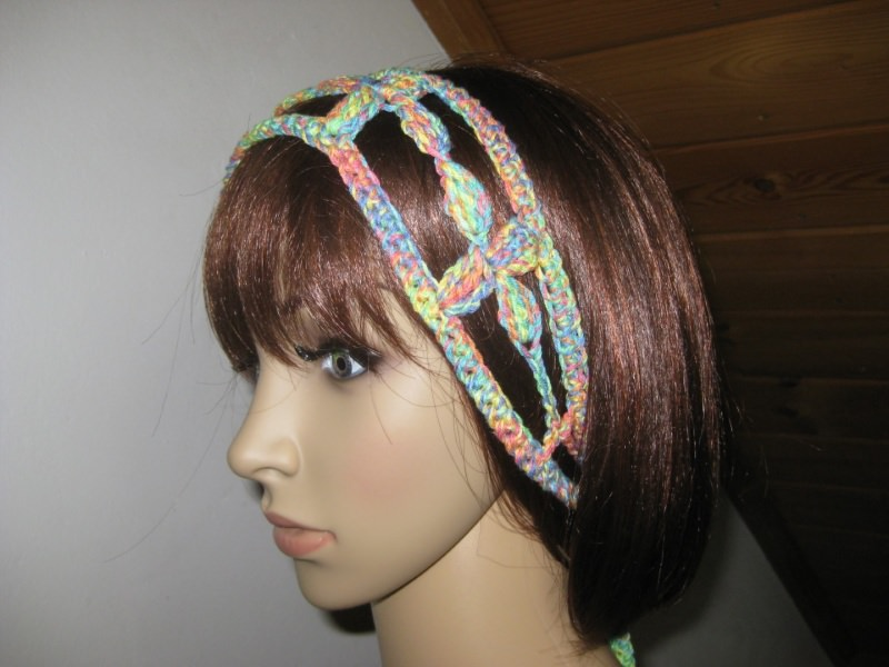 - Haarband, Stirnband, Haarschmuck, gehäkelt  - Haarband, Stirnband, Haarschmuck, gehäkelt