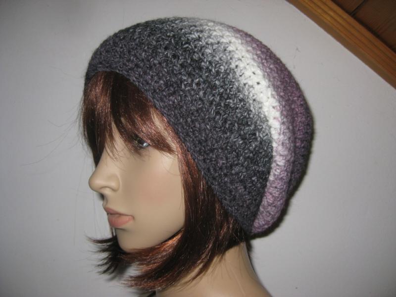 Kleinesbild - Mütze, gehäkelt aus Wolle mit Alpaka und schönem Farbverlauf, Beanie, Häkelmütze