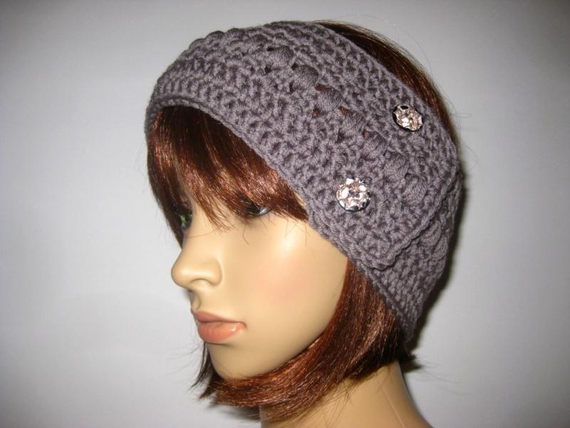 - Stirnband, größenverstellbar, aus weicher Wolle mit hübschem Muster, Ohrwärmer, Haarband - Stirnband, größenverstellbar, aus weicher Wolle mit hübschem Muster, Ohrwärmer, Haarband