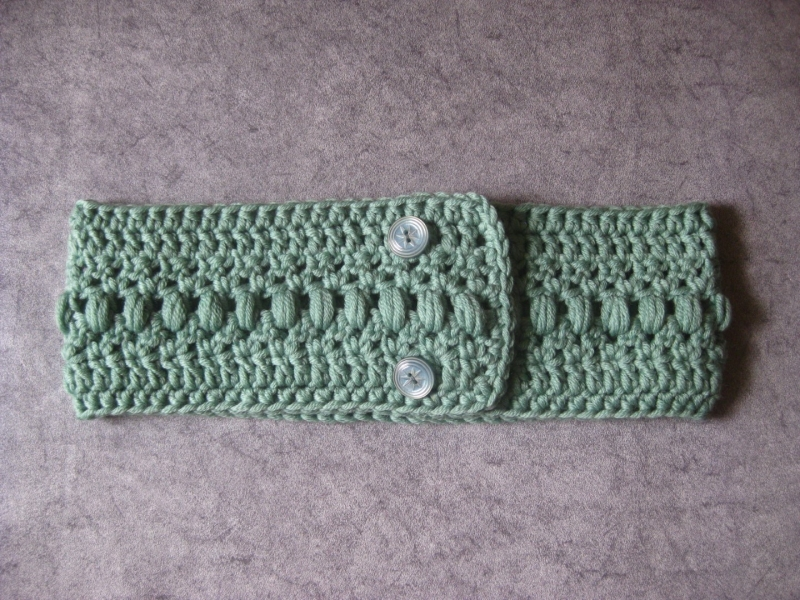 Kleinesbild - Stirnband, größenverstellbar, aus weicher Wolle mit hübschem Muster, Ohrwärmer, Haarband