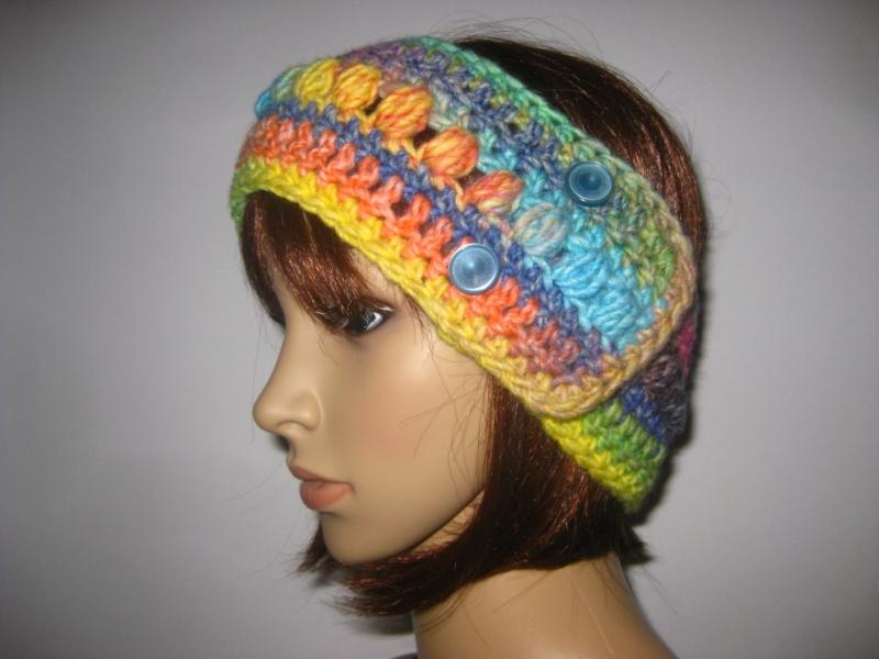 Kleinesbild - Stirnband, größenverstellbar, mit hübschem Muster, Ohrwärmer, Haarband
