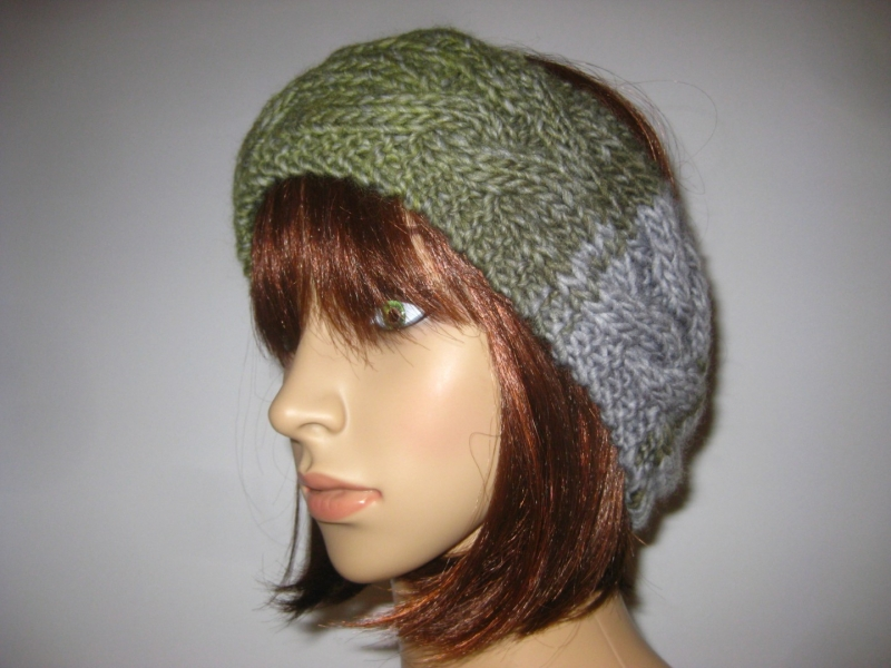Kleinesbild - Stirnband mit Zopfmuster, Ohrwärmer, Haarband