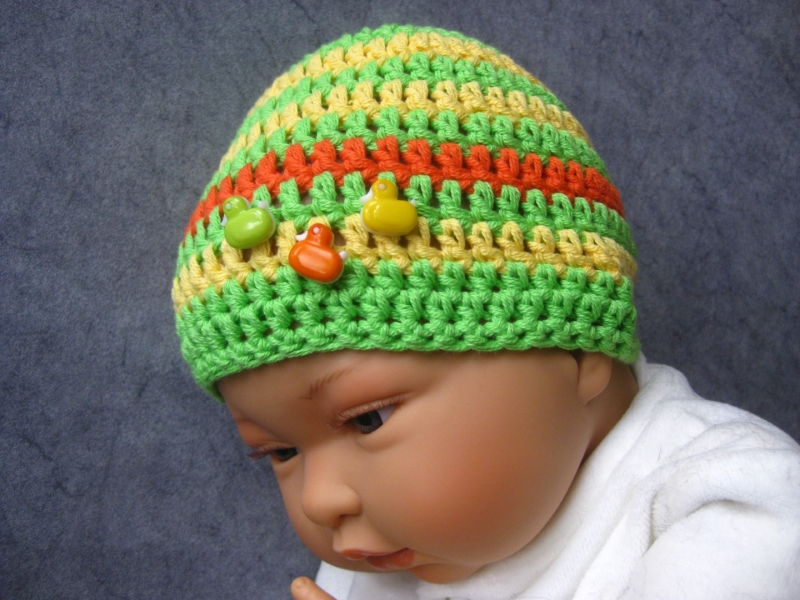Kleinesbild - Babymütze, Neugeborenenmütze, Sommermütze aus Baumwolle