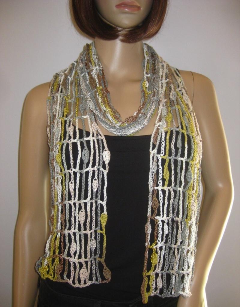 Kleinesbild - Schal mit hübschem Muster, Sommerschal, Schmuckschal, Stola