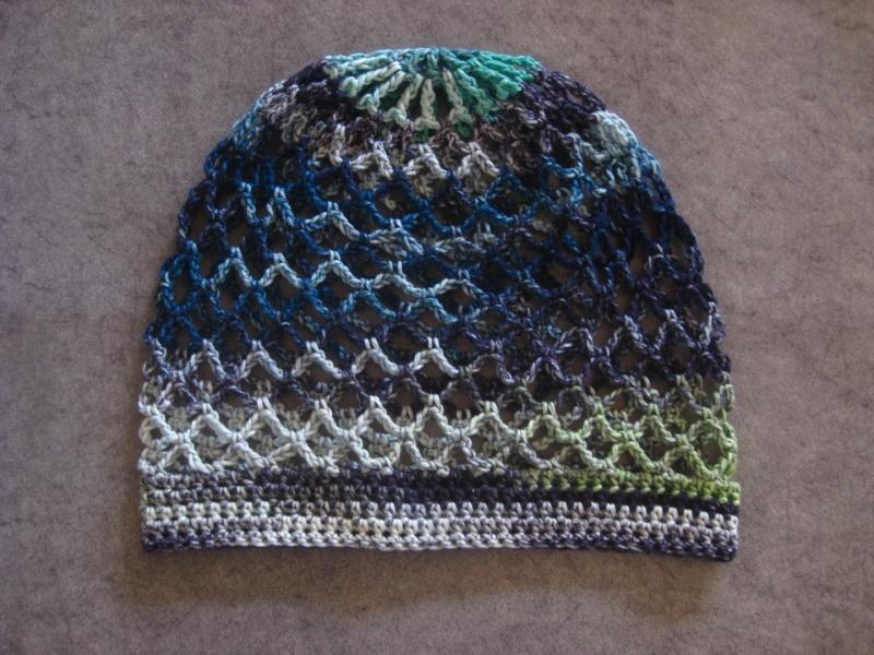 Kleinesbild - Mütze, Beanie, Sommer-Mütze mit schönem Farbverlauf, aus Baumwolle