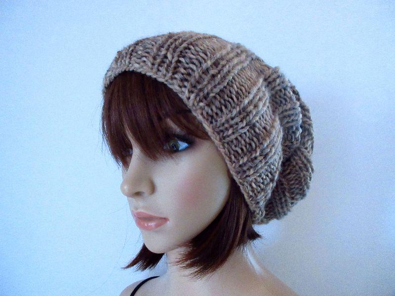 Kleinesbild - Set: Schlauchschal, Mütze und Stirnband, gestrickt aus weicher Wolle