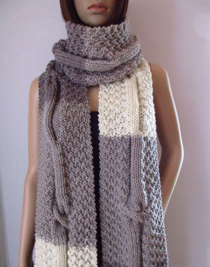 Kleinesbild - Extralanger Schal aus weicher Wolle, XL-Schal, unisex