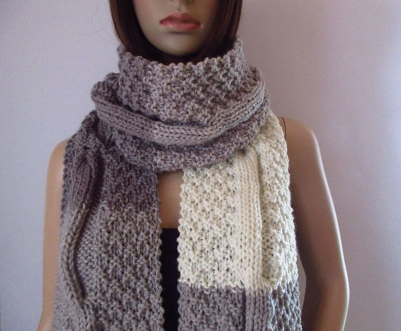 - Extralanger Schal aus weicher Wolle, XL-Schal, unisex - Extralanger Schal aus weicher Wolle, XL-Schal, unisex