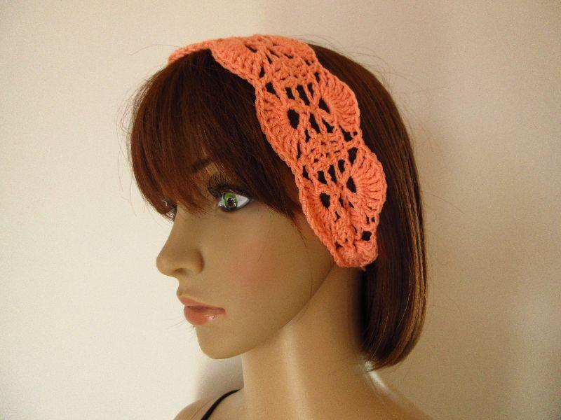 - Haarband aus elastischer Baumwolle, Stirnband, Haarschmuck, gehäkelt - Haarband aus elastischer Baumwolle, Stirnband, Haarschmuck, gehäkelt