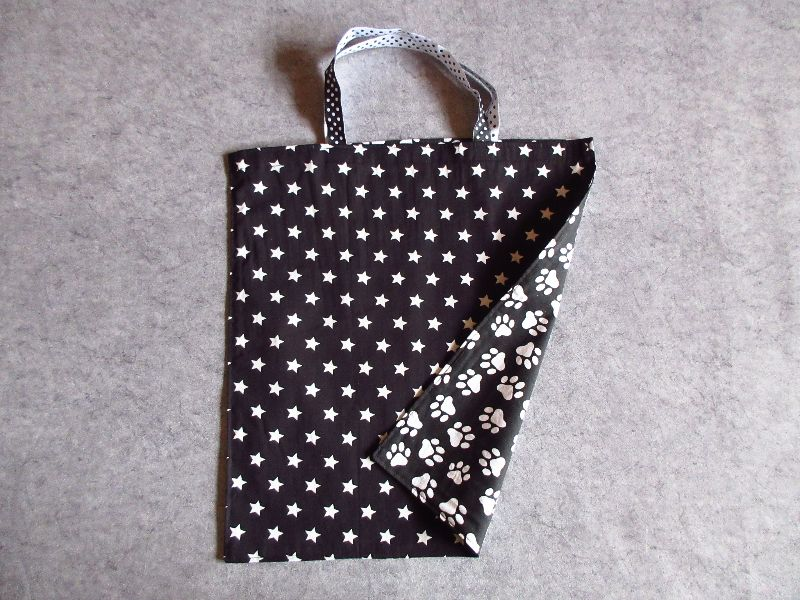 Kleinesbild - Einkaufstasche, Einkaufbeutel, Baumwolltasche, Beutel, Tasche, Pfoten