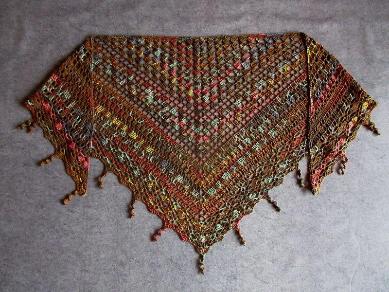 - Großes Dreieckstuch aus weicher Baumwolle, Stola, Poncho, gehäkelt - Großes Dreieckstuch aus weicher Baumwolle, Stola, Poncho, gehäkelt