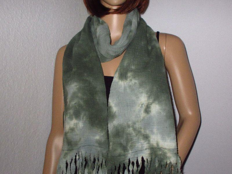 - Schal, Batik, Vintage-Style, aus Musselin - Schal, Batik, Vintage-Style, aus Musselin