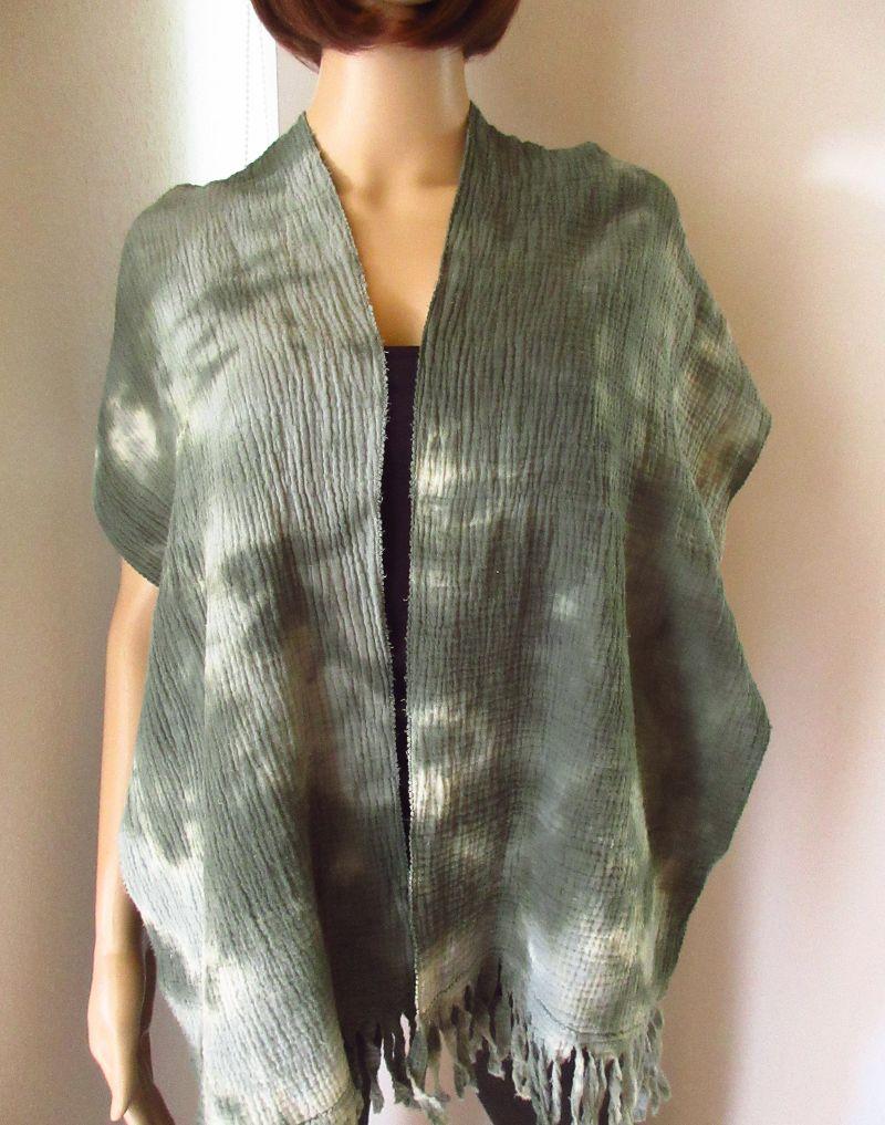 Kleinesbild - Schal, Batik, Vintage-Style, aus Musselin