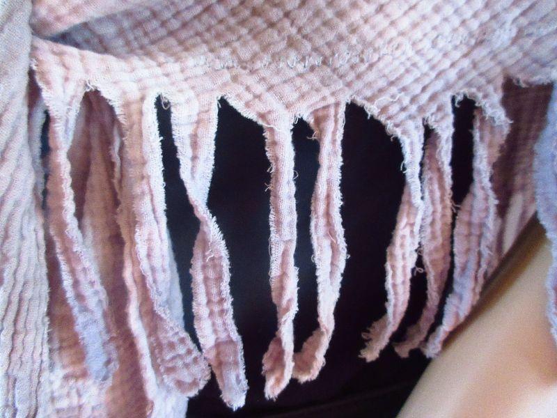 Kleinesbild - Dreieckstuch, Batik, Vintage-Style, aus Musselin, Schaltuch