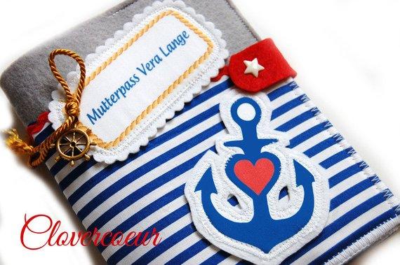 - Mutterpasshülle Mutterpass Hülle Anker Liebe Glaube Hoffnung maritim Streifen blau rot - Mutterpasshülle Mutterpass Hülle Anker Liebe Glaube Hoffnung maritim Streifen blau rot