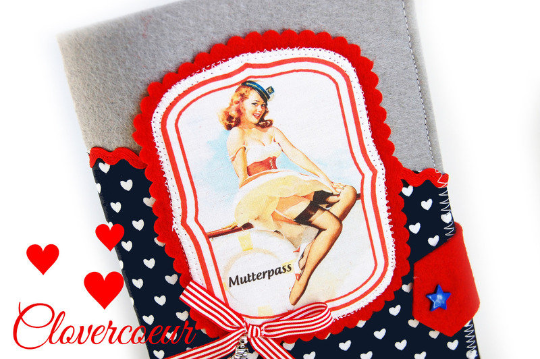- Mutterpasshülle Herz Mutterpass Hülle Baby Mutterkindpass Pin up Maritim Herzen Mamapass  - Mutterpasshülle Herz Mutterpass Hülle Baby Mutterkindpass Pin up Maritim Herzen Mamapass