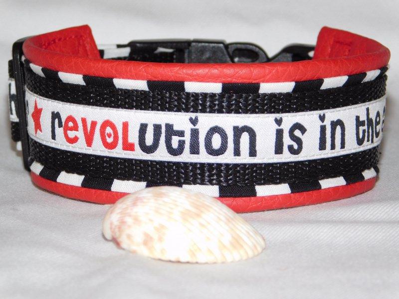 - Hundehalsband - Revolution - mit  Lederimitat unterfüttert - Hundehalsband - Revolution - mit  Lederimitat unterfüttert
