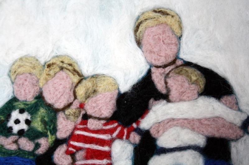Kleinesbild - Handgefilztes und Ihr ganz persönliches Familienportrait auf Anfrage