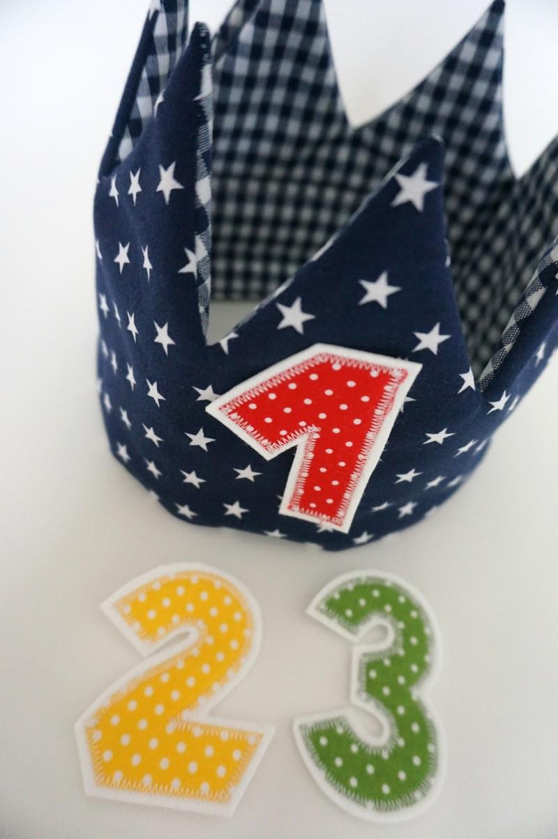 Kleinesbild - Geburtstagskrone, Farbe nach Wahl inklusive 3 Zahlen