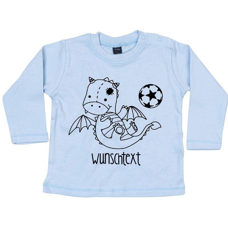 - Langarmshirt mit Drache und Wunschtext - Langarmshirt mit Drache und Wunschtext