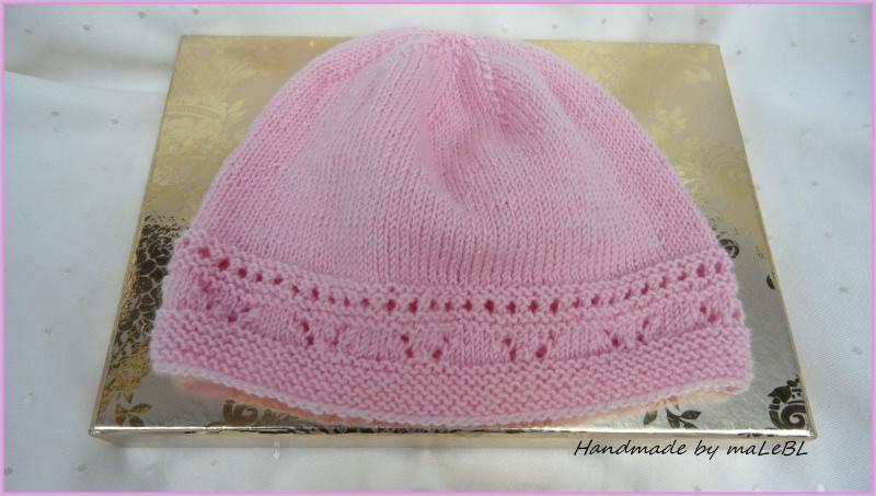 - Gestrickte Babymütze für kleine Mädels. Aus Wolle (Merino), rosa - Gestrickte Babymütze für kleine Mädels. Aus Wolle (Merino), rosa