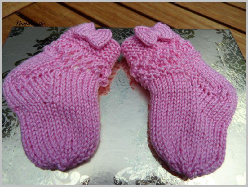 - Babysocken für kleine Mädchen, handgestrickt aus 100 % Baumwolle - Babysocken für kleine Mädchen, handgestrickt aus 100 % Baumwolle