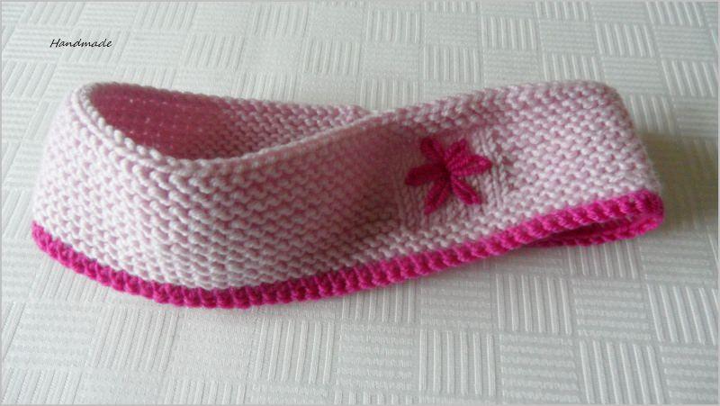 - Gestricktes Haarband/Stirnband für kleine Mädchen, rosa/pink - Gestricktes Haarband/Stirnband für kleine Mädchen, rosa/pink