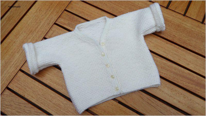 - Strickjacke, Wolljacke für Neugeborene  aus 100 % Wolle (Merino) - Strickjacke, Wolljacke für Neugeborene  aus 100 % Wolle (Merino)
