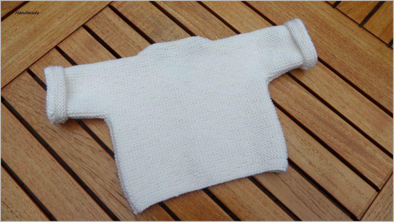 Kleinesbild - Strickjacke, Wolljacke für Neugeborene  aus 100 % Wolle (Merino)