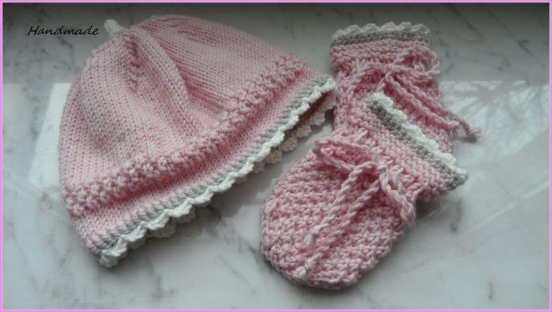 - Neugeborenenset, Babymütze und Babyhandschuhe für kleine Mädchen - Neugeborenenset, Babymütze und Babyhandschuhe für kleine Mädchen