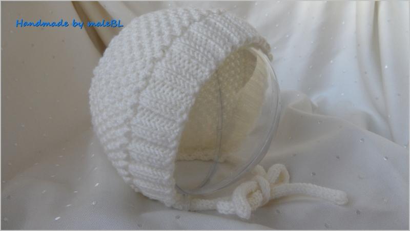 -  Babymütze - Babyhaube für Neugeborene - Taufmütze - Wolle-Merino -  Babymütze - Babyhaube für Neugeborene - Taufmütze - Wolle-Merino