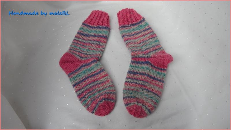 Kleinesbild - Kindersocken für Mädchen, Stiefelsocken in rosa, Gr. 26/27