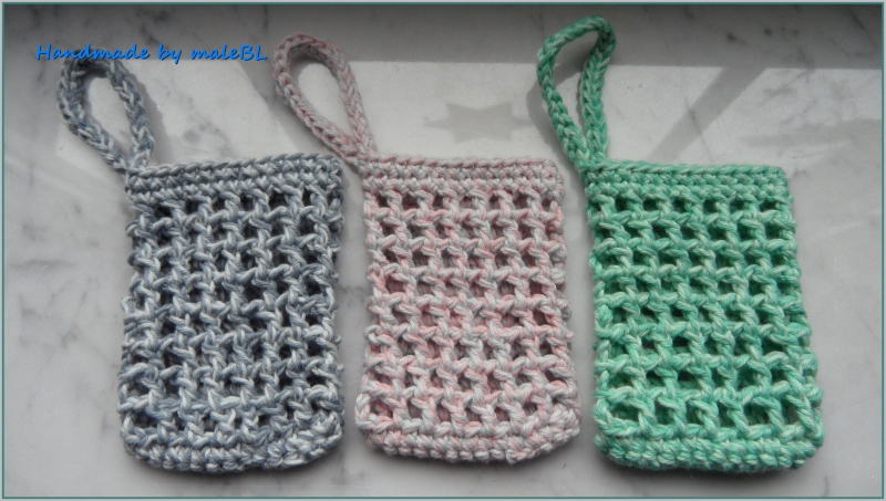 - Seifensäckchen, Seifenbeutel, Seifennetz, Grün, Grau, Rosa, - Seifensäckchen, Seifenbeutel, Seifennetz, Grün, Grau, Rosa,
