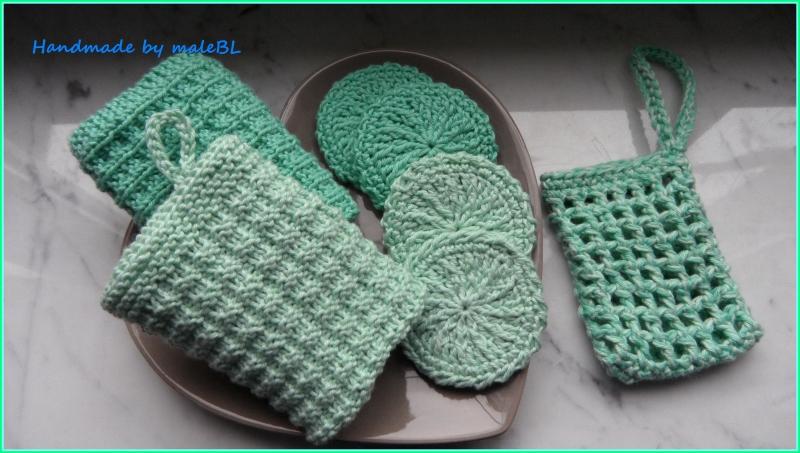 Kleinesbild - Seifensäckchen, Seifenbeutel, Seifennetz, Grün, Grau, Rosa,